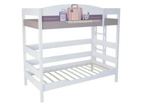 """Двухъярусная кровать 180 см и лестницей с торца """"Париж"""""""