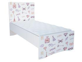 """Светлая детская кровать в комнату для девочек из коллекции """"Париж"""""""