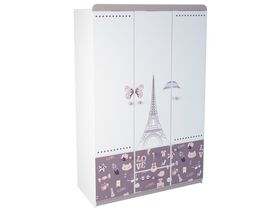 """Трехдверный шкаф в комнату для девочки из коллекции """"Париж"""""""