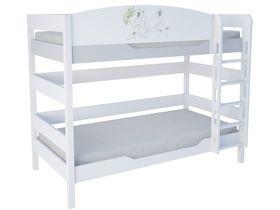 Детская двухъярусная кровать 160 см из массива бука