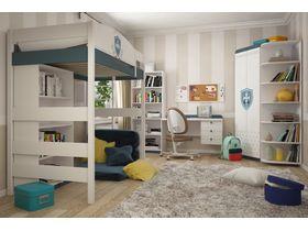 """Детская комната для ребенка школьника """"Шато"""" с кроватью чердаком"""
