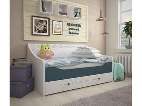"""Детская кровать-диван белая из коллекции """"Шато"""" с выдвижным ящиком"""