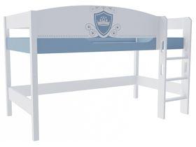 """Кровать чердак в детскую из массива бука на высоту 120 см """"Шато"""""""