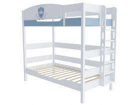"""Двухъярусная кровать 180 см и лестницей с торца """"Шато"""""""