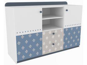 """Детский двухдверный комод широкий с двумя ящиками в комнату мальчика из коллекции """"Шато"""""""