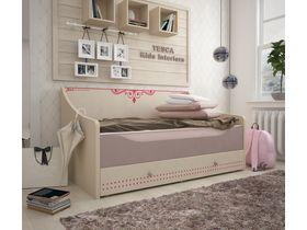 """Детская кровать-диван """"Сиена"""" для девочек в бежевом цвете"""
