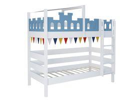 """Детская двухъярусная кровать """"Замок"""" из массива бука"""