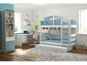 """Мебель для детской комнаты подростков """"Шато exclusive"""" с двухъярусной кроватью из массива бука"""