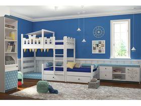 """Мебель в комнату для двух мальчиков с двухъярусной кроватью из массива бука """"Шато exlusive"""""""