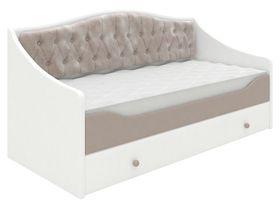 Кровать-диван в нескольких размерах с мягким изголовьем
