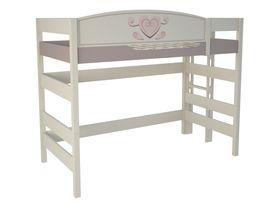 """Кровать чердак 160 см и лестницей с торца """"Capri"""""""