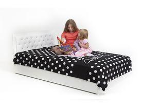 """Кровать """"Фея"""" под матрас 120-190 с кожаным изголовьем, стразами Swarovski и подъемным механизмом"""