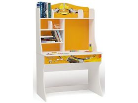 """Детский стол для школьника с надстройкой в оранжевом цвете """"Champion оранжевая"""""""