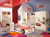 """Детская комната """"Формула Белая"""" с кроватью машиной"""