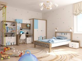 """Коллекция детской мебели """"Mix Bunny"""" в голубом цвете"""