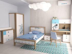 """Коллекция детской мебели """"Mix Ocean"""" в голубом цвете"""