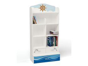 """Детский стеллаж широкий с ящиками из коллекции """"Океан"""""""