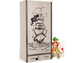 Детский шкаф 2-дверцы, 2 ящика
