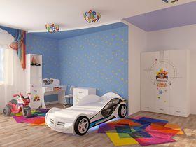 """Детская мебель для мальчика """"Спорт"""" с кроватью машиной"""