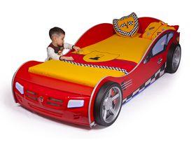 """Кровать машина для мальчика """"Формула"""" в красном цвете с подсветкой дна"""