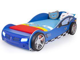"""Машина кровать для мальчика """"Формула синяя"""" в 2ух размерах"""