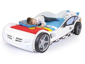 """Белая кровать машина с подсветкой """"Формула"""""""