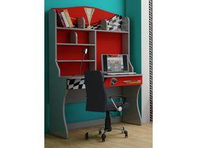 """Детский стол для школьника с надстройкой в красном цвете и ящиками """"Формула красная"""""""