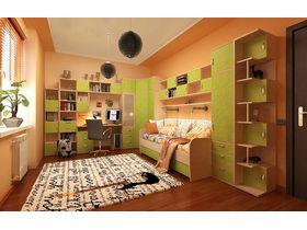 """Детская стенка """"ОРИОН"""" с кроватью диваном и множеством цветовых решений"""