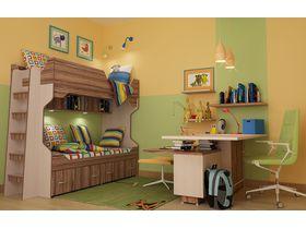 """Мебель в детскую комнату """"СТРИЖ 2"""" с двухъярусной кроватью"""