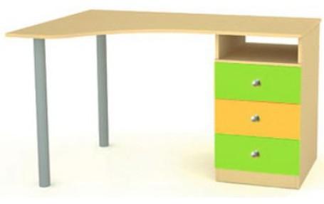 детский угловой письменный стол для школьника из коллекции выше