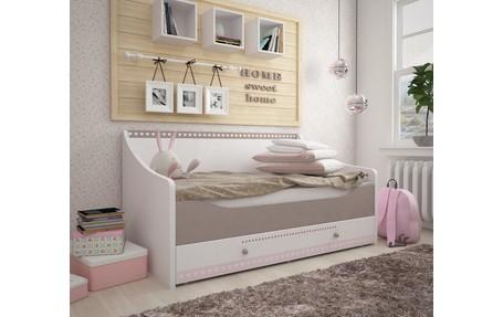 детская кровать диван для девочек Mon Coure в нежных тонах